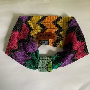 Missoni zig zag knotted headband NEW WITH TAGS
